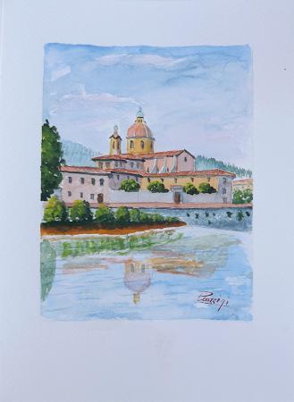 Quadro di Giuliano Piazzini Cestello - acquerello carta