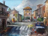 Quadro di Gianni Mori - Castelnuovo d'Assisi mista tela