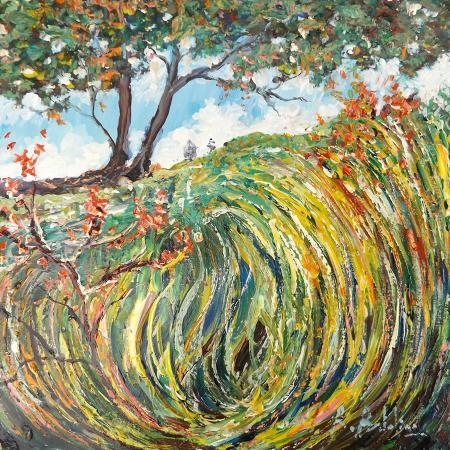 Art work by Rossella Baldino Trionfo autunnale - oil table