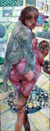 Quadro di Renzo Bussotti Figura di schiena  - olio tela