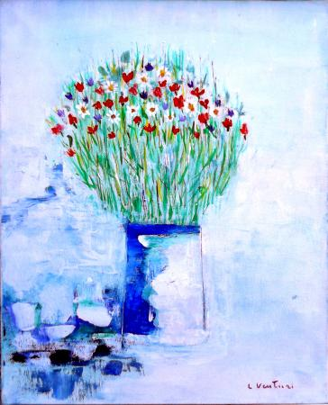 Art work by Liù Venturi Fiori di campo - oil canvas