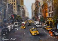 Work of Gianni Mori - NY street oil canvas