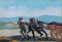 Work of G. Spinelli - Cavallo oil canvas