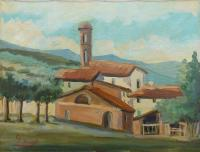 Work of G. Spinelli - Paesaggio oil canvas