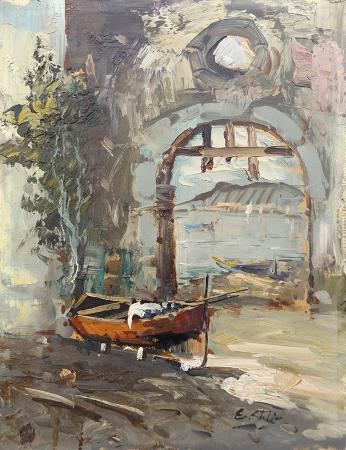 Art work by S. Stilio Lago - oil table
