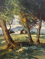Quadro di S. Stilio  Paesaggio con alberi