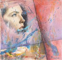 Quadro di Maurizio Perozzi - Ricerca colore in viola + rosso mista tela