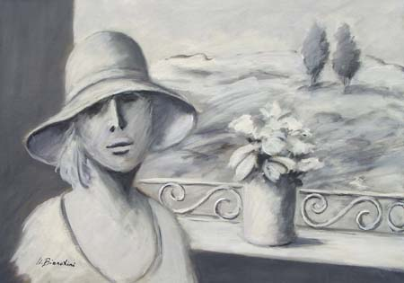 Art work by Umberto Bianchini Assenza di colore - mixed canvas