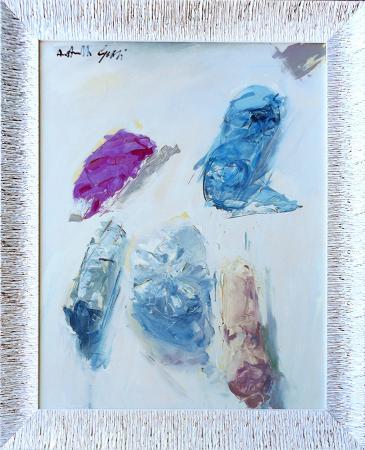 Quadro di Antonello Capozzi Composizione 15.615 - olio tela
