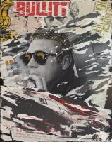 Quadro di Domenico Villano - Bullitt decollage tela