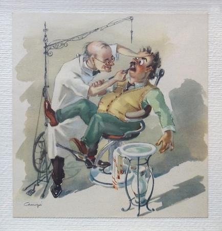 Quadro di  Campi Il dentista - stampa carta