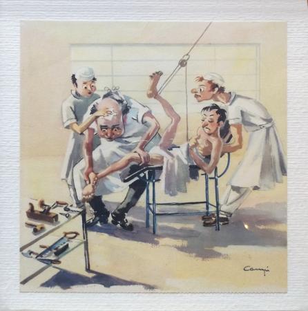 Quadro di  Campi Il reumatologo - Pittori contemporanei galleria Firenze Art