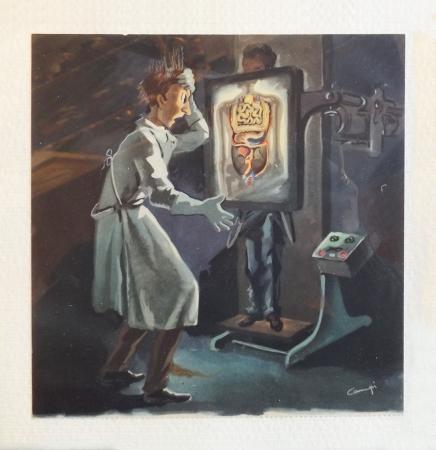 Quadro di  Campi Il radiologo - stampa carta