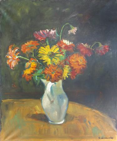 Art work by Umberto Mariotti Vaso di fiori - oil canvas