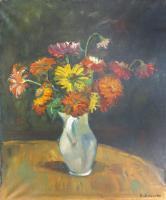Quadro di Umberto Mariotti - Vaso di fiori olio tela