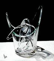 Quadro di Paolo Lenti - Pezzi di vetro olio legno