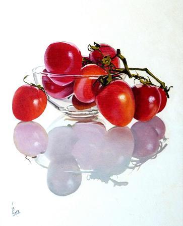 Quadro di Paolo Lenti Rosso pomodoro - olio legno