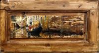 Quadro di Massimo Lomi - La gondola ed il suo silenzio tempera tavola