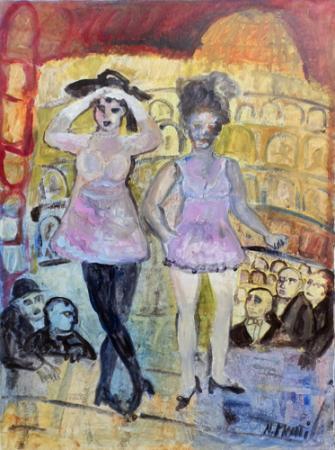 Quadro di Nada Monti Ballerine - olio tela