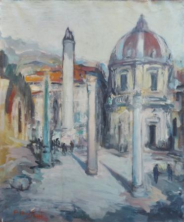 Art work by P. Bruschi Roma - oil canvas