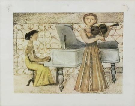 Quadro di Massimo Campigli Concerto - stampa carta