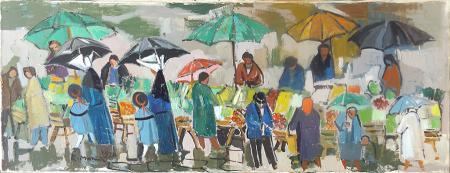 Art work by Rodolfo Marma Mercatino a S. Spirito - oil canvas