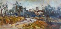 Mario Poggesi - Paesaggio con case