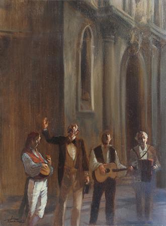 Quadro di Francesco Tammaro Serenata - Pittori contemporanei galleria Firenze Art