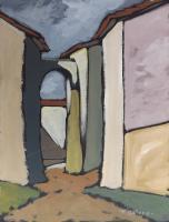 Work of Francesco Matera - Mura oil cardboard