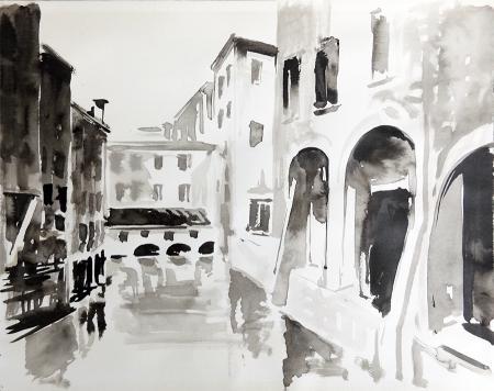 Quadro di Ugo  Signorini  Paesaggio - acquerello carta
