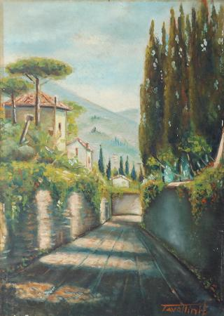 Artwork by E Tavellini, oil on table | Italian Painters FirenzeArt gallery italian painters