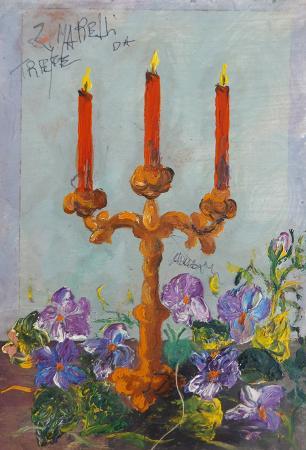 Quadro di  Zimarelli (da Trieste) Senza titolo - acrilico tavola