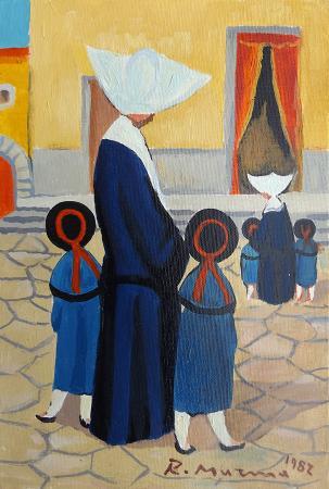 Art work by Rodolfo Marma Monachina  - oil canvas cardboard