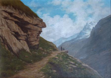 Quadro di Ennio Pozzi Paesaggio - Pittori contemporanei galleria Firenze Art