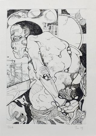 Artwork by Giuliano Pini, print on paper | Italian Painters FirenzeArt gallery italian painters