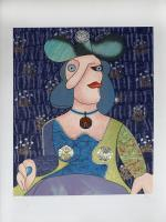 Work of Enrico Baj - Omaggio a Picasso mixed paper