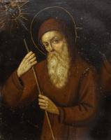 Quadro di  Antiquariato - San Francesco di Paola olio rame