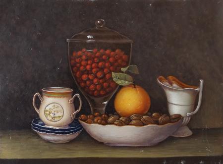 Art work by  Antiquariato Composizione - oil copper