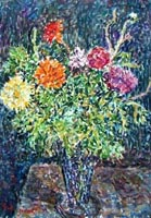 Work of Guido Borgianni - Vaso con fiori oil canvas