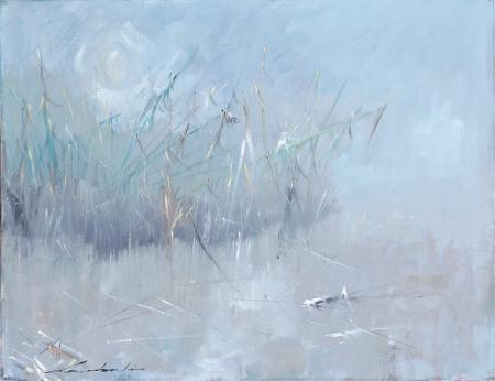 Quadro di Ivo Lombardi La palude - olio tela