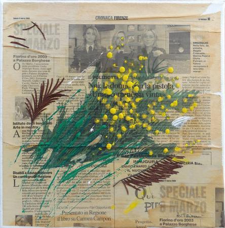 Quadro di Andrea Tirinnanzi Speciale 8 Marzo - collage tela