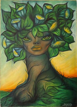 Quadro di Novella Parigini Sophia Loren - olio tela