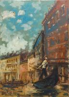 Quadro di Emanuele Cappello - Venezia olio tela