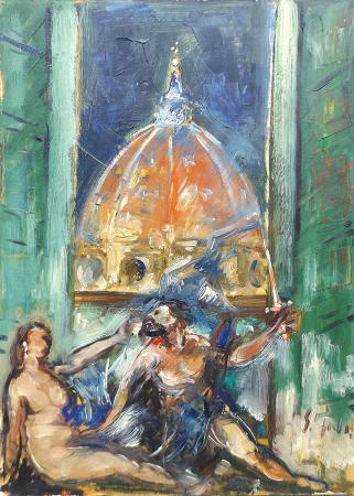 Art work by Emanuele Cappello Maestosa Firenze - oil canvas