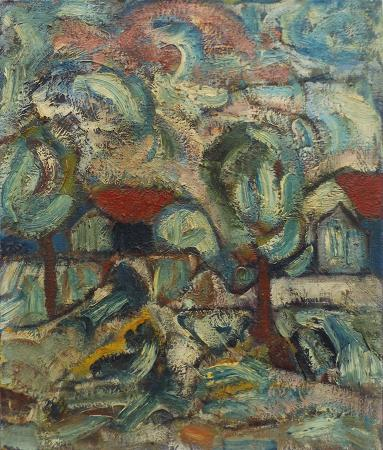 Art work by Alvaro Baragli Paesaggio - oil canvas
