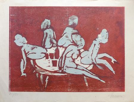Artwork by Mino Maccari, print on paper | Italian Painters FirenzeArt gallery italian painters
