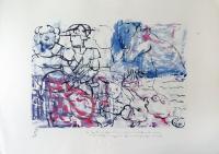 Quadro di Roberto Panichi - Il Gatto dagli stivali, Cavallo Pazzo e il Pesce Innamorato omaggiano la principessa incinta stampa carta
