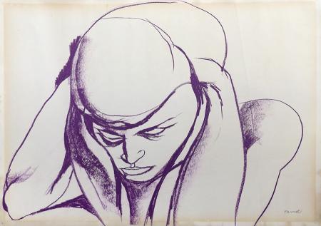 Art work by Fernando Farulli Ritratto - pastel paper