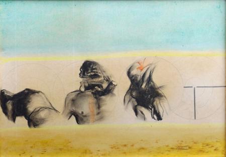 Quadro di Piero Tredici Ribellione - mista cartone