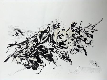 Quadro di Sergio Scatizzi Fiori - litografia carta